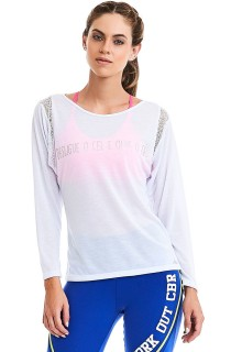 Blusa Manga Longa Off Branco CAJUBRASIL Activewear