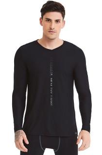 Camiseta Masculina Manga Longa Preto CAJUBRASIL Activewear