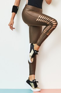 Legging Effect Marrom CAJUBRASIL Activewear