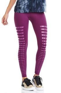 Legging Emana Silk Roxo CAJUBRASIL Activewear