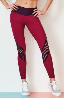 Legging Shine Laser Bordô CAJUBRASIL Activewear