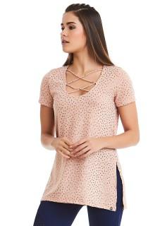 T-shirt Heart Rosa CAJUBRASIL Activewear