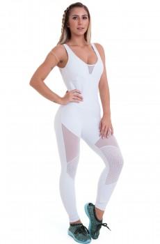 Macacão Emana Charm Branco CAJUBRASIL Activewear