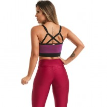 Top Cropped Vigor Roxo
