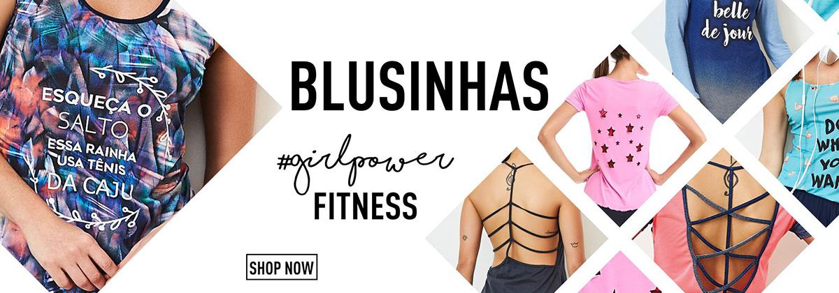 Blusinhas #girlpower Fitness