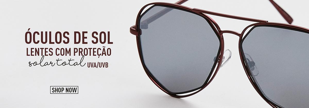 Óculos de Sol - Lentes com Proteção Solar Total UVA/UVB
