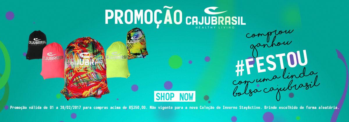 Promoção Comprou, Ganhou, #FESTOU com uma Linda Bolsa da CAJUBRASIL