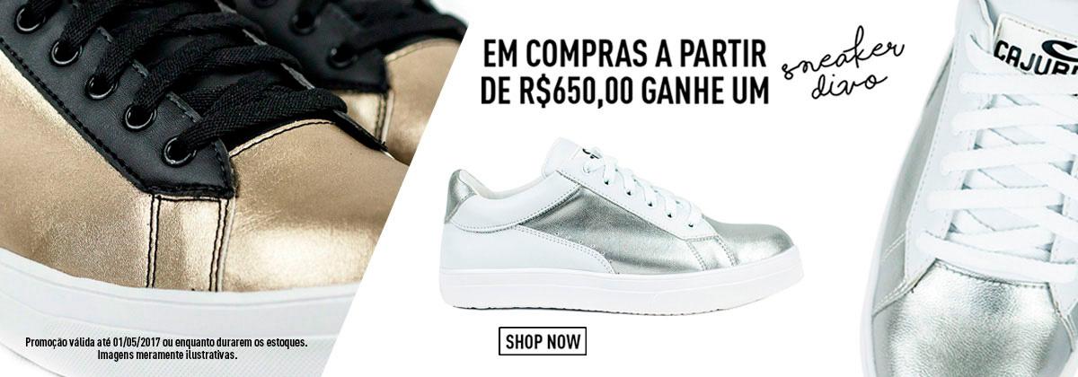 Ganhe um Sneaker nas Compras Acima de R$650