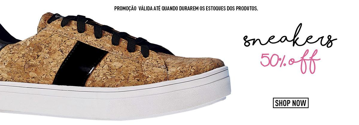 A Promoção dos Sneakers com 50% Voltou!